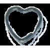 Key ring, heart, 31mm