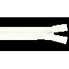 Deelbare rits, 35cm, wit (501)