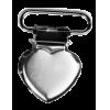 Clips pour jarretelle, 25mm, coeur