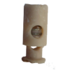 Cord stops, with 1 hole, 25mm, beige