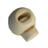 Cord stops, with 1 hole, rond, 23mm, beige