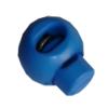Cord stops, with 1 hole, rond, 23mm, blue