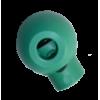 Koordstoppers, met 1 gaatje, rond, 23mm, groen