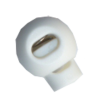 Cord stops, with 1 hole, rond, 23mm, white