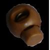 Koordstoppers, met 1 gaatje, rond, 23mm, bruin