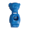 Cord stops, with 1 hole, bear, 32mm, blue
