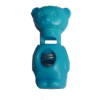 Cord stops, with 1 hole, bear, 32mm, turquoise