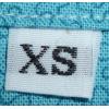 Etiquettes de tailles blanc - XS (par 10)