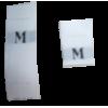 Maatlabels wit - M (per 10)