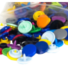 KAM Snaps, 10,7mm, plastic, shiny, mix - per 10