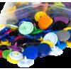 KAM Snaps, 10,7mm, plastic, shiny, mix - per 10