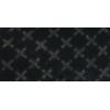 Bias binding, cotton, 20mm, reflective, black - per 1m