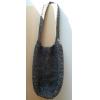 Crochet Shopper, black