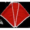 Châle Crocheté, rouge/blanc