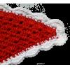 Crochet shawl, red/white