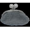 Crochet purse, light gray