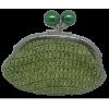 Crochet purse, light green