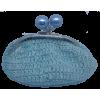 Crochet purse, light blue