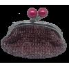Crochet purse, bordeau