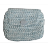 Crochet envelope, sky blue