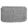Crochet envelope, gray