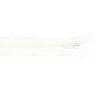 Fermeture éclair profil, 50cm, blanc (501)