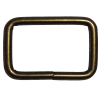 Vierkante ring, 30mm x 20mm, brons