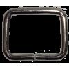 Vierkante ring, 35mm x 25mm, nikkel